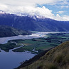 The head of Lake Wanaka