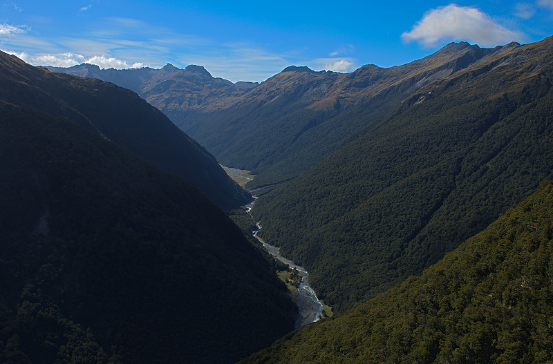 Upper Makarora River and Young Range