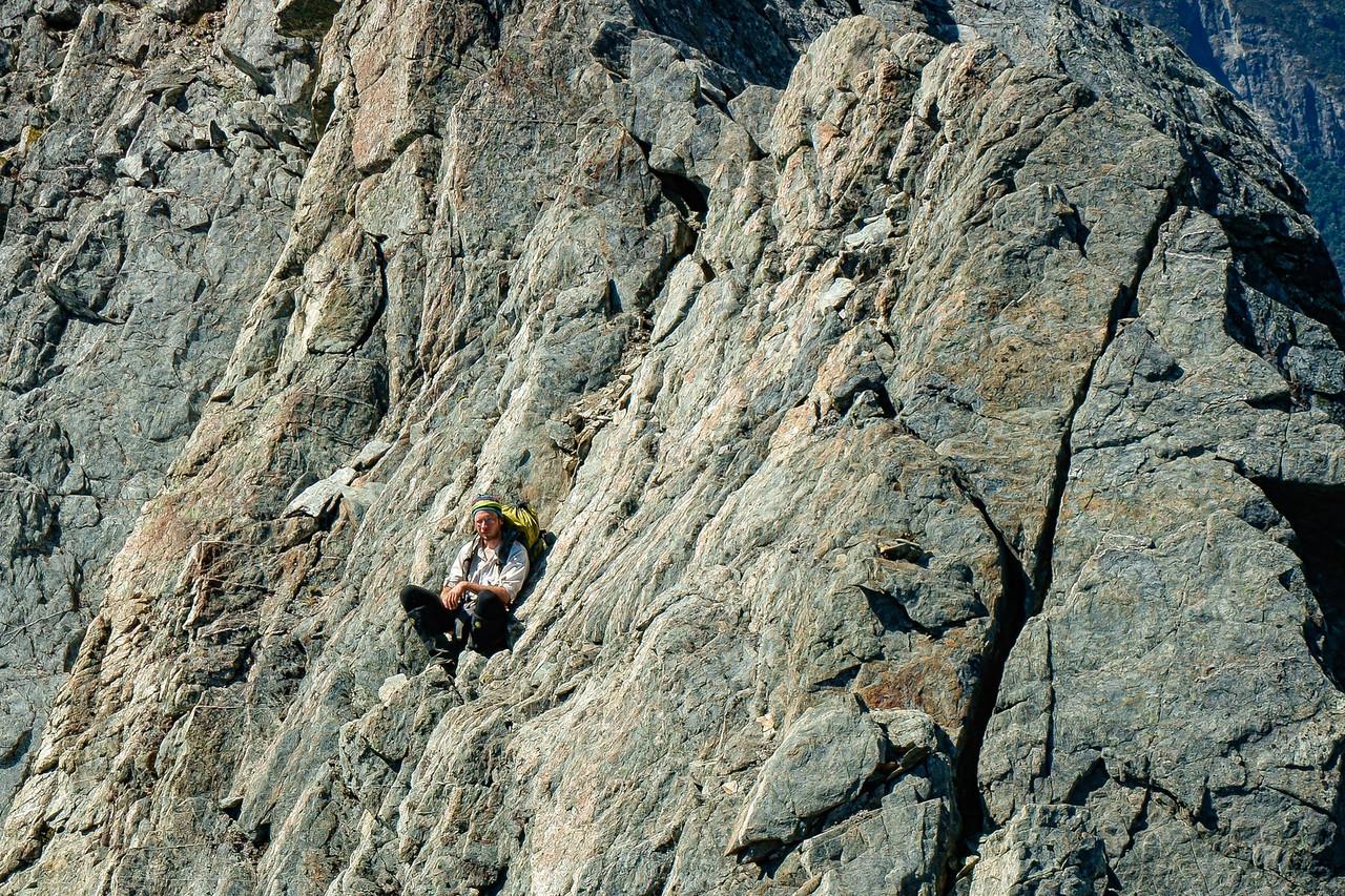On the ridge of Taiaha Peak