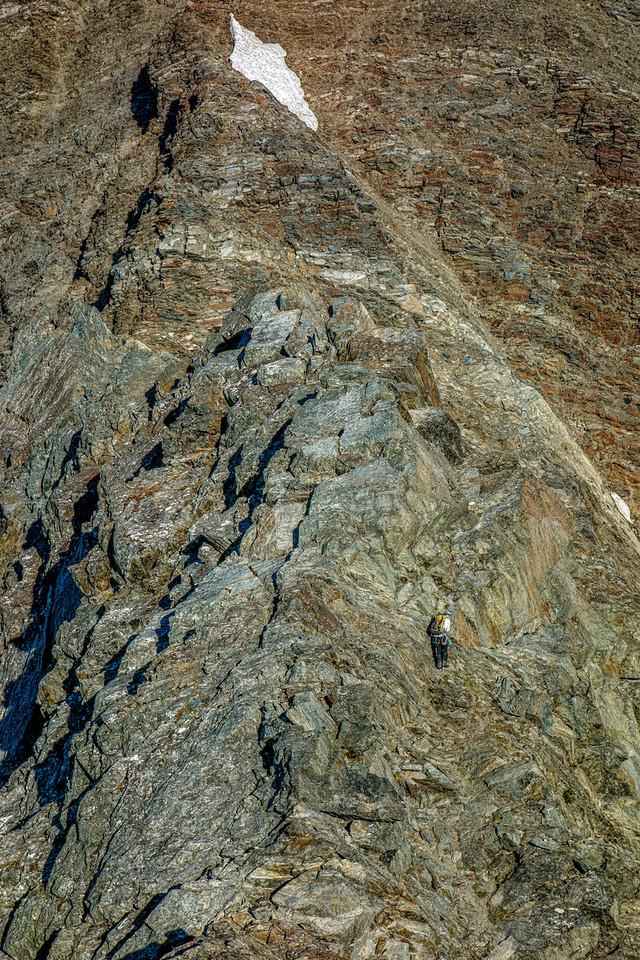 On the east ridge of Taiaha Peak