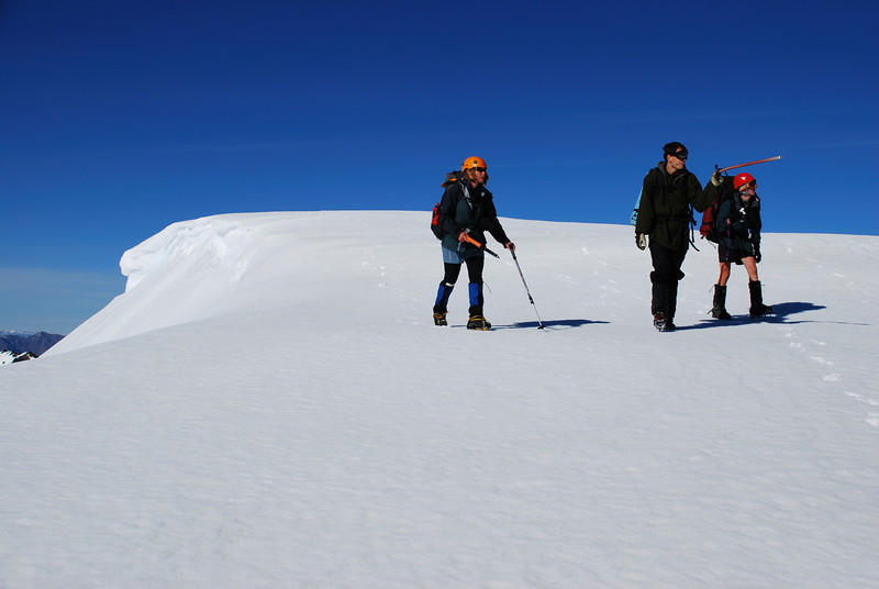Approaching the summit of Peak 2028m
