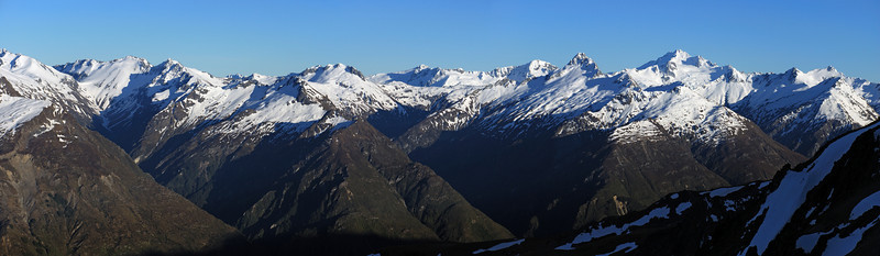 Looking across the Hunter: Lake Creek, Cotters Creek, Tent Peak and Mt Brewster