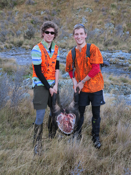 Takes two to carry half - he was a big pig