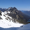 Ailsa Mts, Lake Mackenzie and the Earl Mts from Emily Pass