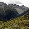 Hidden Falls Creek and the Bryneira Range from Park Pass