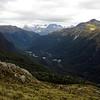 The Darran Mts and Hidden Falls Creek from Park Pass