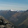 Aoraki/Mt Cook poking over Albert Burn Saddle
