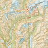 Route topo - 1 grid square = 1 km