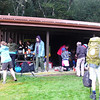 Organised chaos at the Routeburn Shelter on Saturday am