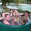 """Cosy spa pool """"fits six friendly adults"""""""
