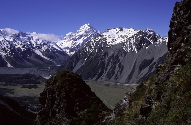 On the ridge just west of Mt Sebastopol