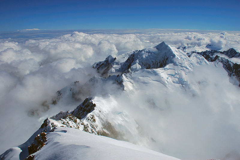 View of Mount Tasman from the summit of Aoraki / Mount Cook