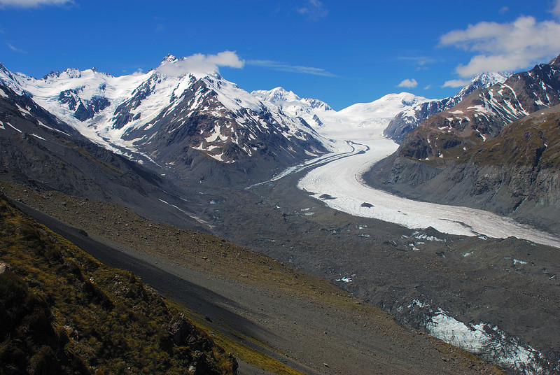 The Rudolf and Tasman Glaciers from Haast Ridge