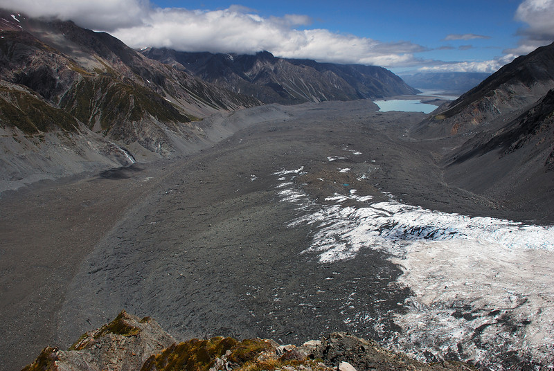 Hochstetter and Tasman Glacier confluence from Haast Ridge