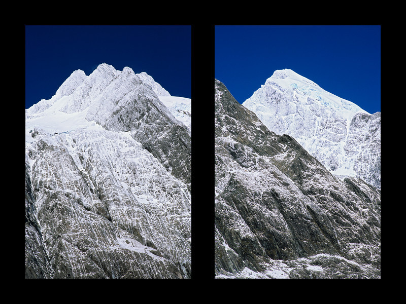 The northern ramparts of Mount Sefton