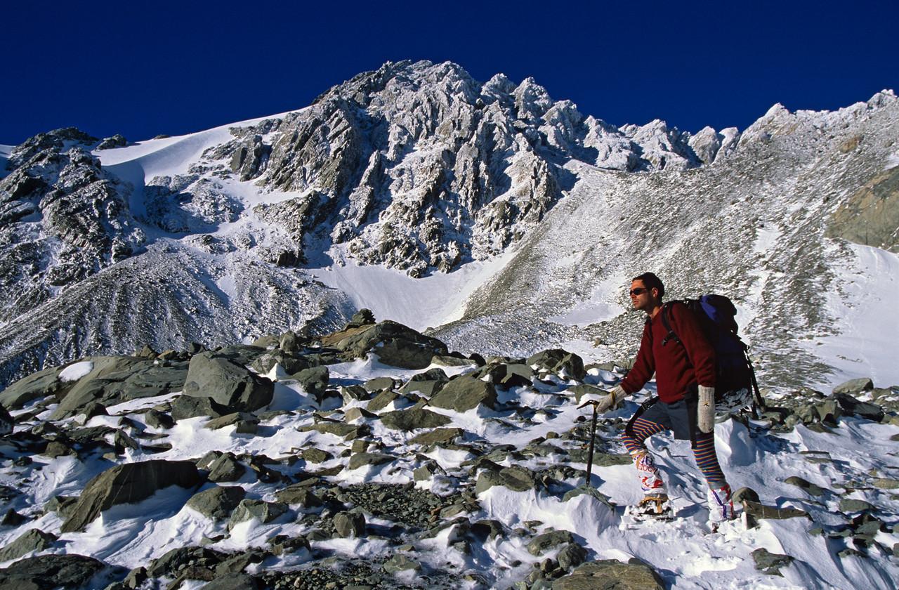 Below Copland Pass. Lean Peak above
