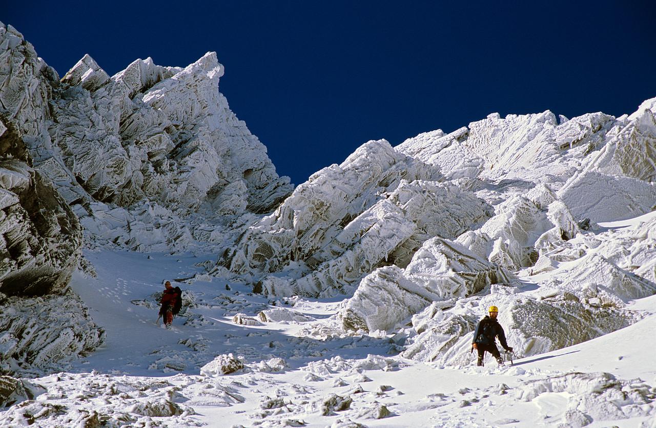 Descending Copland Pass