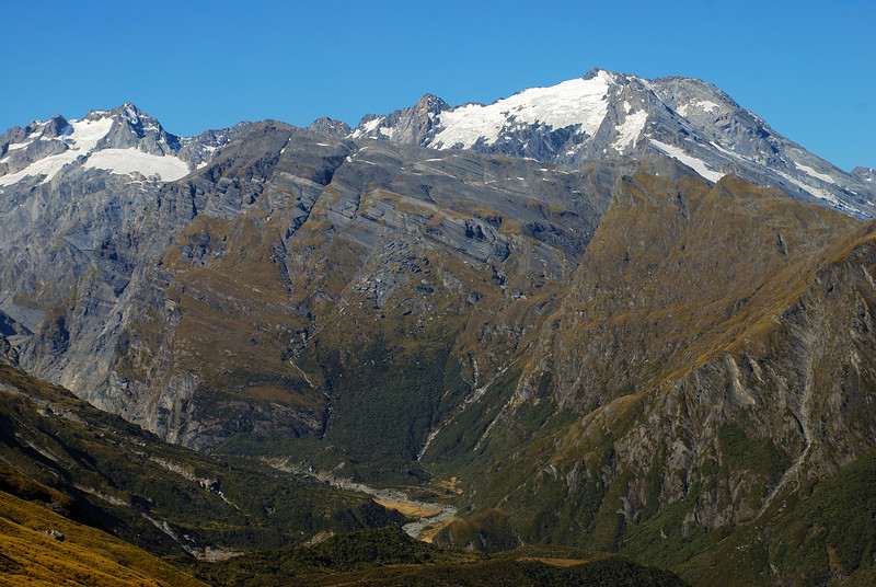 Mt Isabel and Mt Burns from the high sidle above the Douglas River