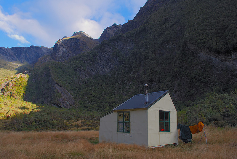 Christmas Flat Hut, Karangarua River