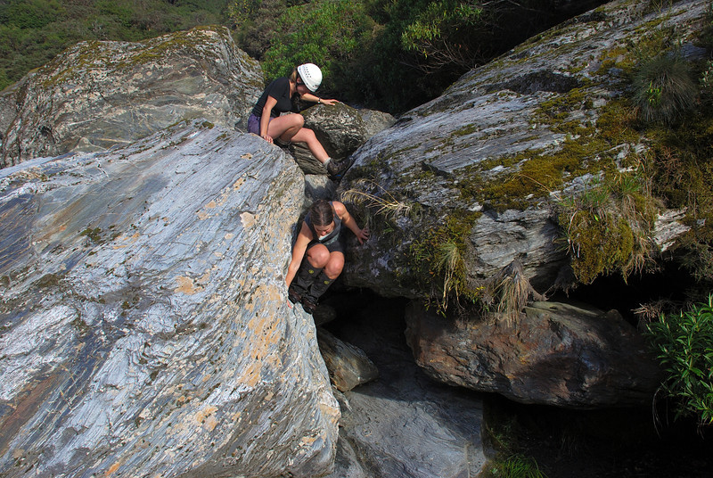 Karangarua River bouldering problem, just upstream of Christmas Flat