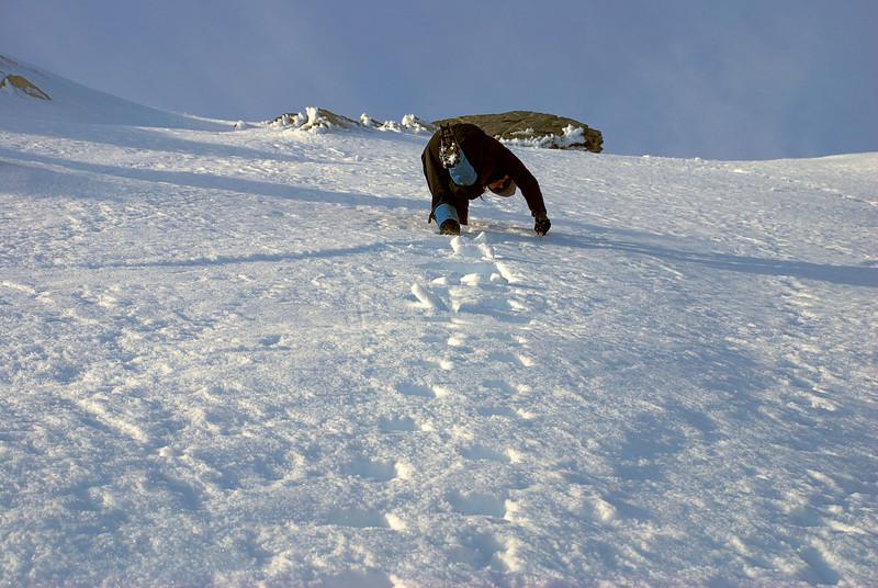 Descending Crozet Peak
