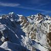Mt Tasman and Mt Cook from the summit of Craig Peak, Fox Range