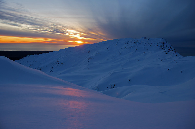 Sunset on the Fox Range