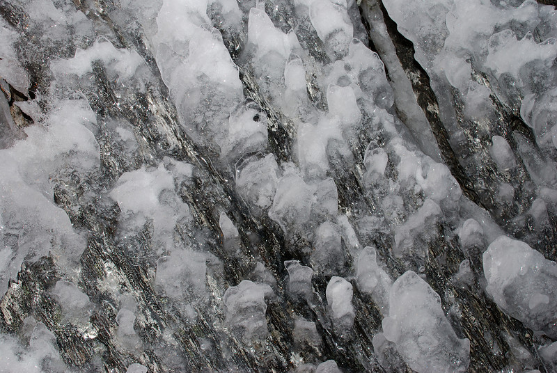Ice on rock, Fox Range