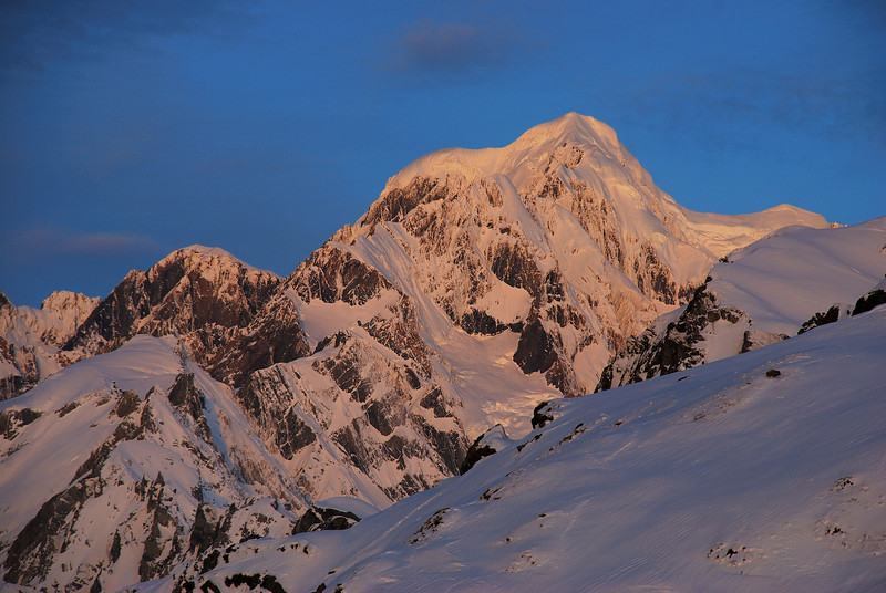 Evening light on Mt Tasman