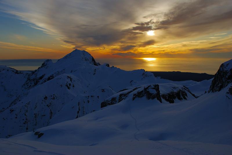 Craig Peak at sunset