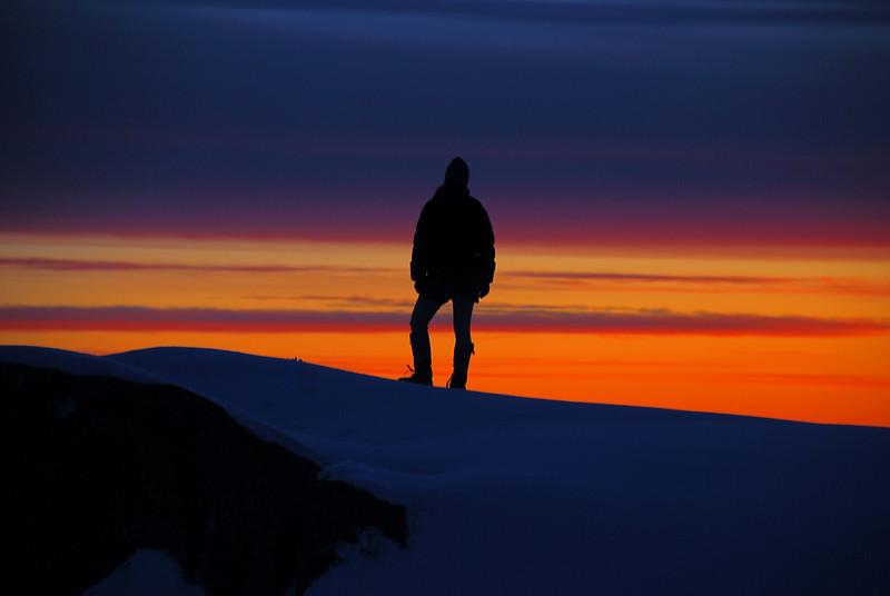 Enjoying sunset on the Fox Range