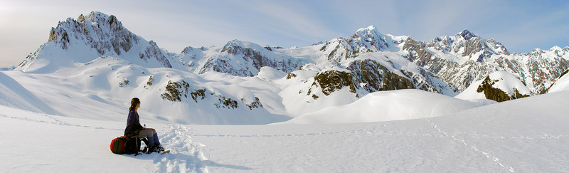 On the Fox Range. Sam Peak on the far left