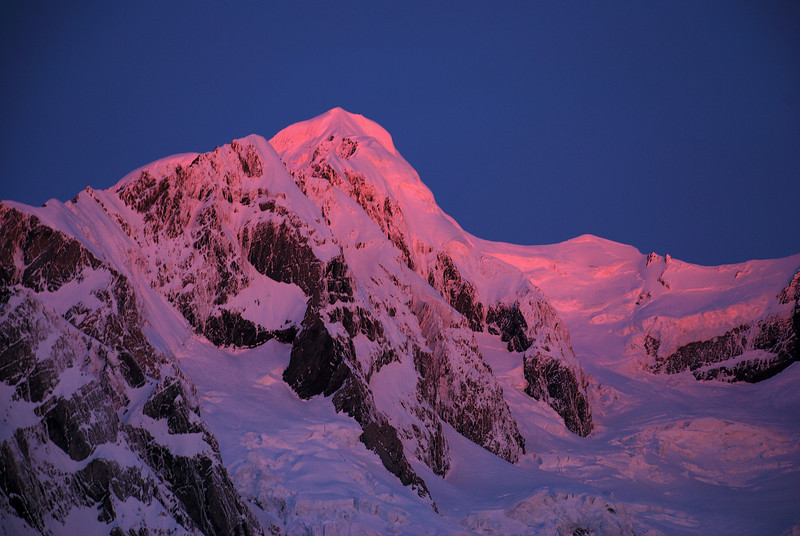 Last evening light on Mount Tasman
