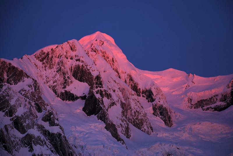 Last evening light on Mount Tasman