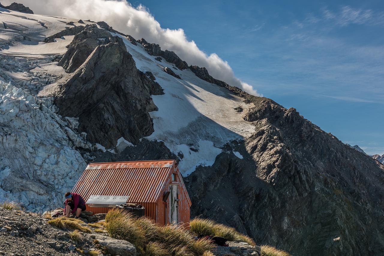 Sefton Bivvy and Tewaewae Glacier.