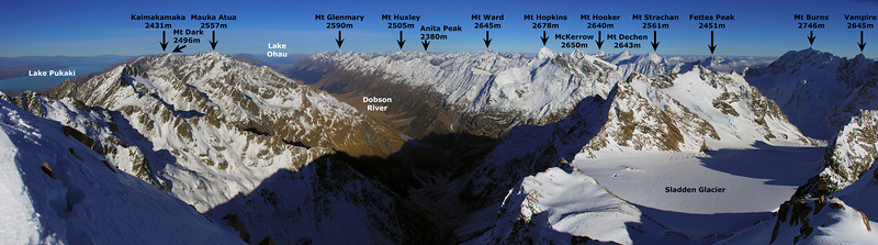Panorama from the summit of Mt Sealy