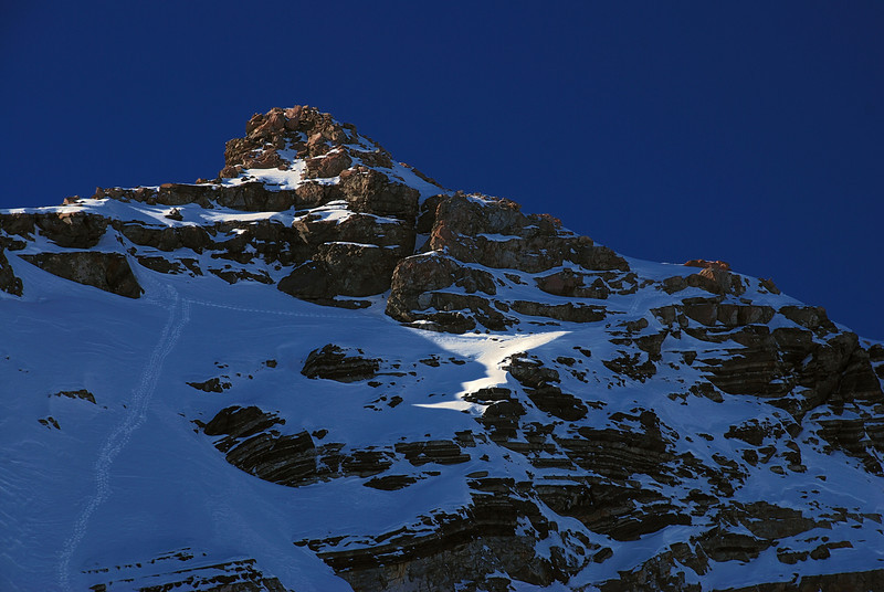 The upper part of Mt Sealy's west face