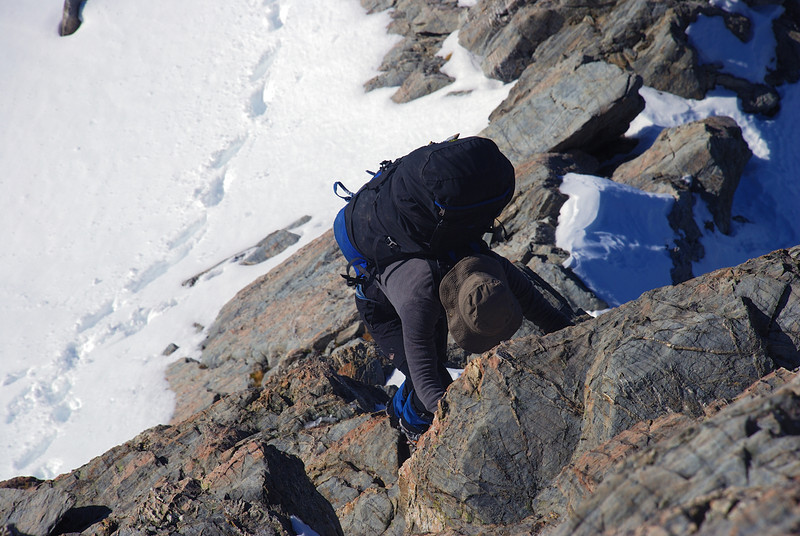 Scrambling on Sebastopol Ridge