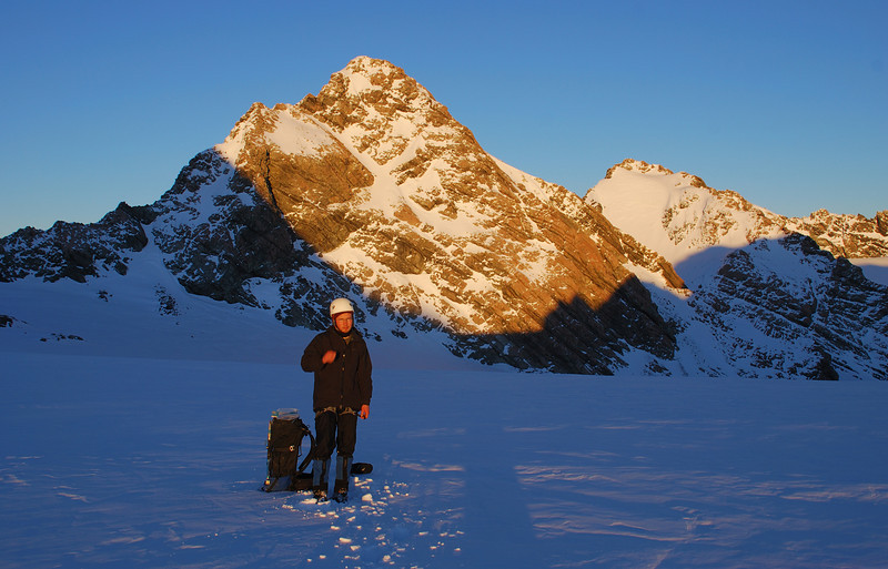 On Sladden Saddle, in front of Mt Jean and Mt Jeanette