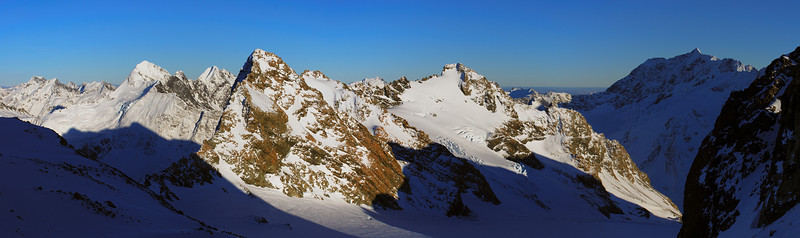 Panorama from the western slopes of Mt Sealy