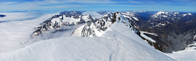 Looking south from the summit of Mt Sefton