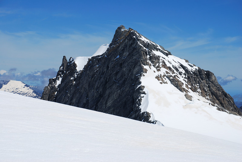 Blizzard Peak at the head of the Horace Walker Glacier