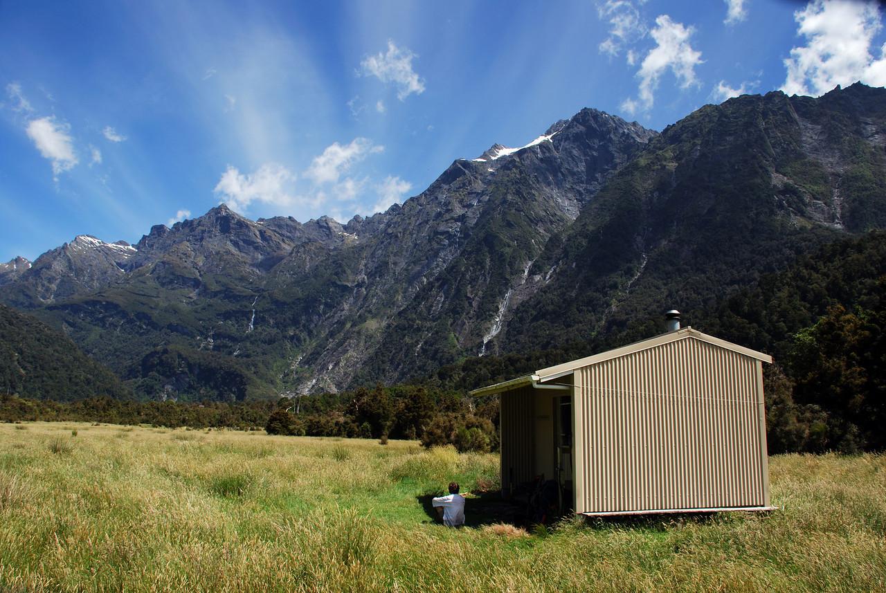 Cassel Flat Hut, Karangarua Valley