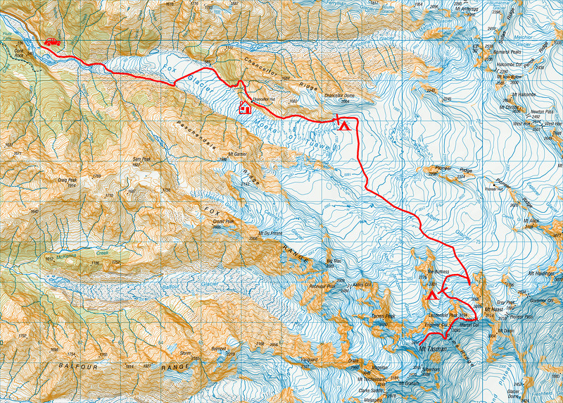"Trip map. 1 grid square = 1km. Left click on map then select ""Sizes -> Original"" in bottom right corner of screen to view full size"