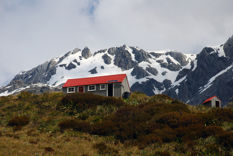 Chancellor Hut. Paschendale Ridge above