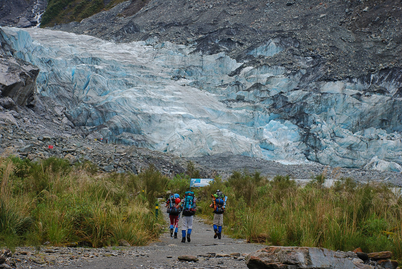 Approaching Fox Glacier terminus