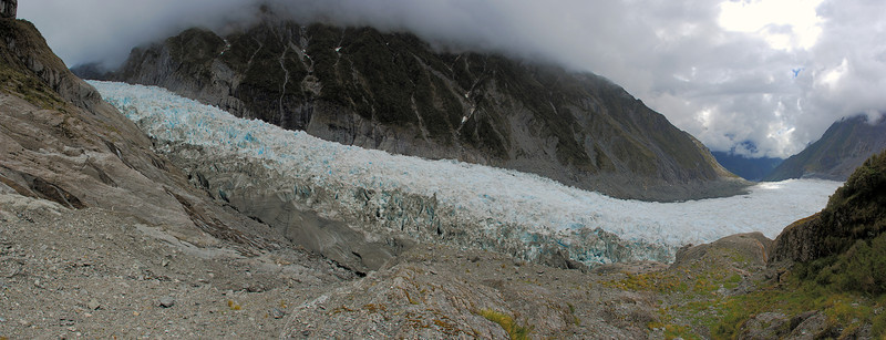 View of Fox Glacier from the route to Chancellor Hut