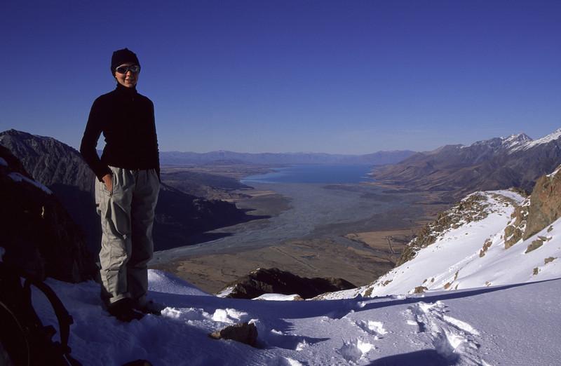 On the South ridge of Mt Wakefield, looking onto Lake Pukaki