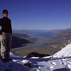 On the South ridge of Mt Wakefield, looking onto Lake Pukaki