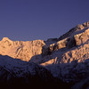 Sunrise on Mt Thomson and Mt Sefton